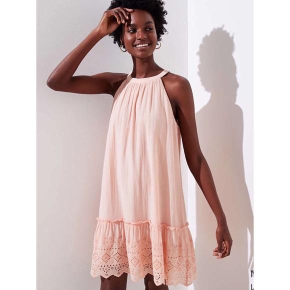 16e73d9b6a23c LOFT Dresses & Skirts - Loft Eyelet Halter Swing Dress